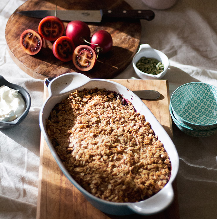 Tamarillo Breakfast Crumble - Twisted Citrus