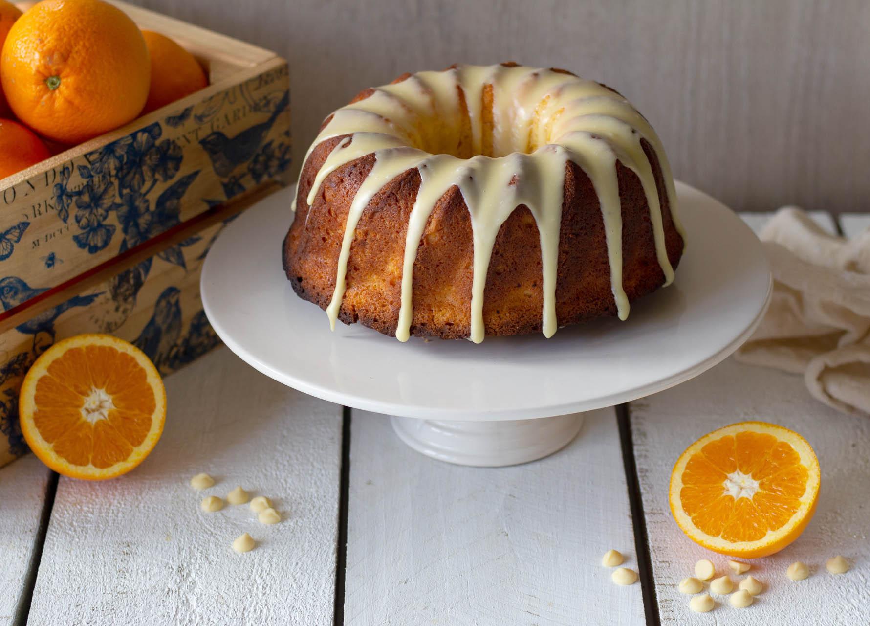 Whole Orange Cake With White Chocolate Twisted Citrus